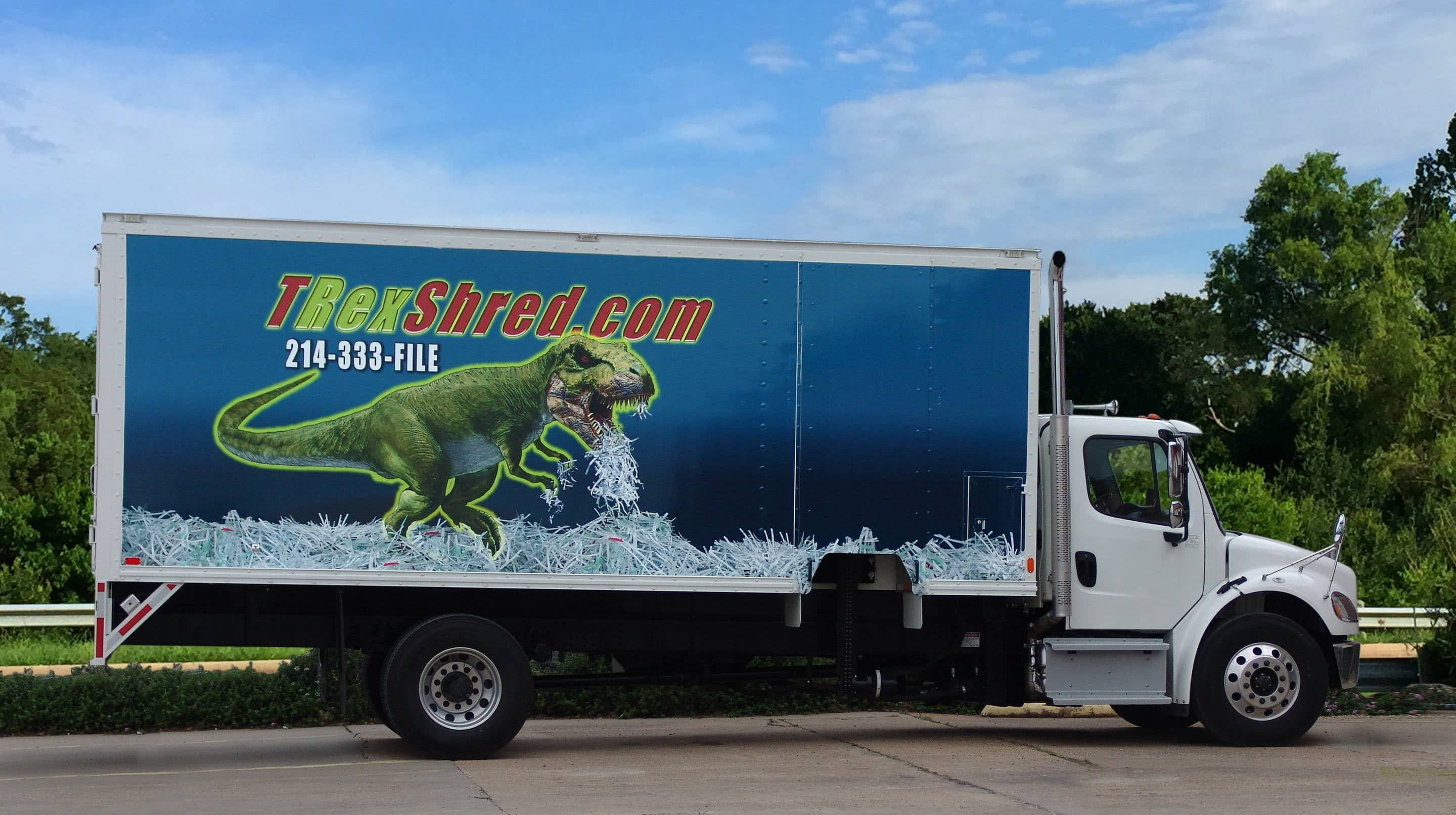 TRex shredding truck